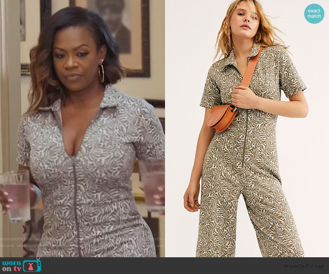 Ellie Jumpsuit by Free People worn by Kandi Burruss  on The Real Housewives of Atlanta