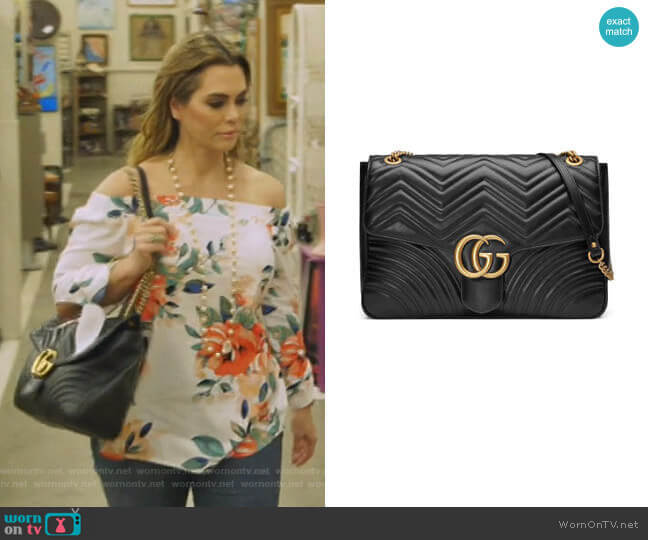 GG Large Marmont Shoulder Bag by Gucci worn by D'Andra Simmons  on The Real Housewives of Dallas