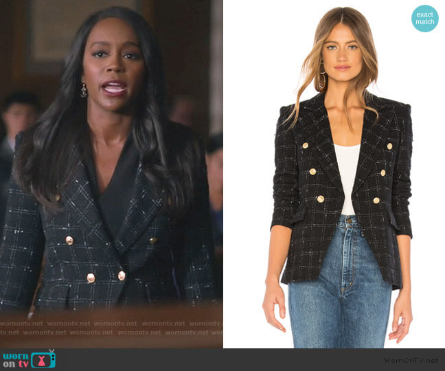 Alexa Blazer by Generation Love worn by Michaela Pratt (Aja Naomi King) on HTGAWM