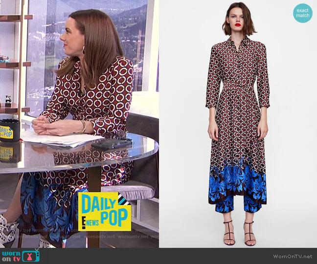 Geometric Print Tunic by Zara worn by Melanie Bromley  on E! News