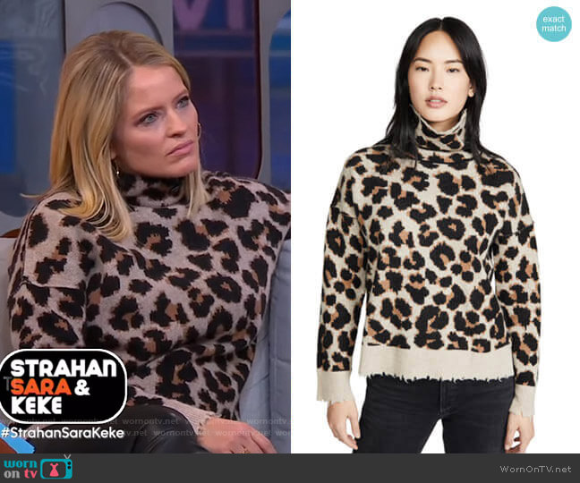 Gillian C Leo Cashmere Sweater by Zadig & Voltaire worn by Sara Haines  on Good Morning America