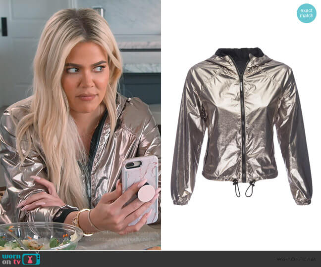 The medal-winning running jacket by Good American worn by Kourtney Kardashian  on Keeping Up with the Kardashians