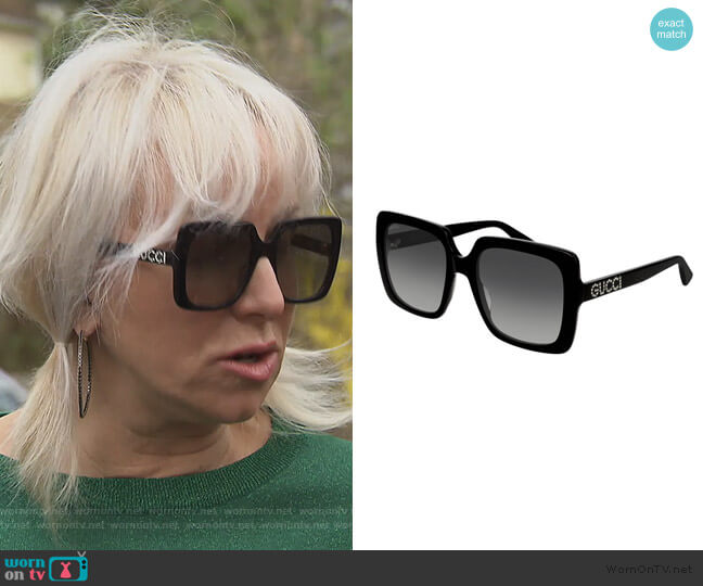 Square Acetate Sunglasses by Gucci worn by Margaret Josephs  on The Real Housewives of New Jersey