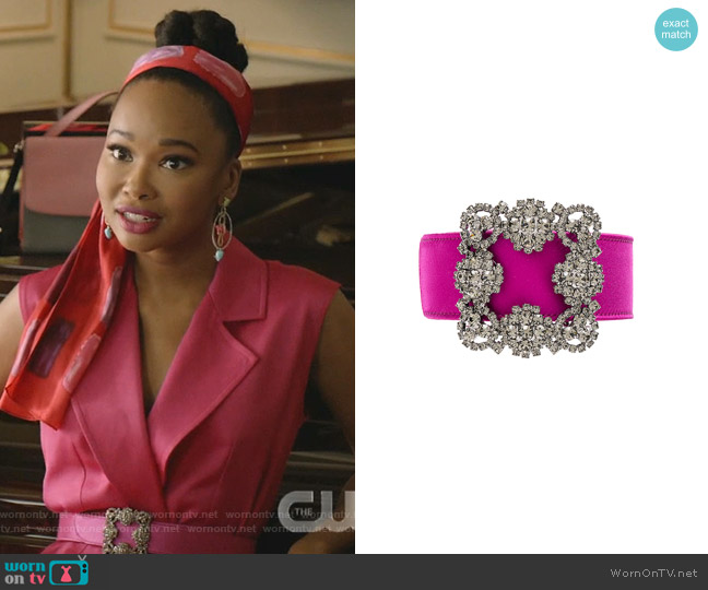 Hangisi Belt by Manolo Blahnik worn by Monica Colby (Wakeema Hollis) on Dynasty