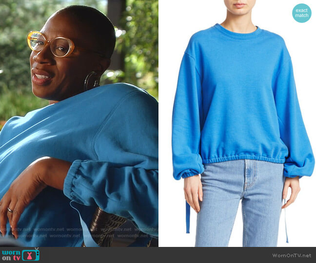 Vintage Terry Cotton Sweatshirt by Helmut Lang worn by Henrietta Wilson (Aisha Hinds) on 9-1-1