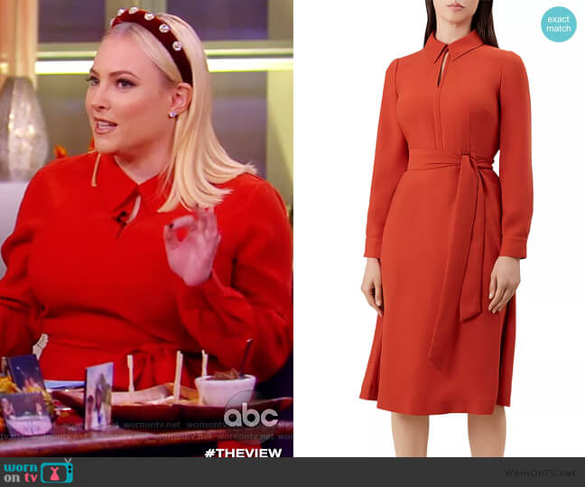 Georgiana Collared Dress by Hobbs London worn by Meghan McCain  on The View