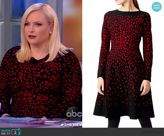 Jodie Jacquard A-Line Dress by Hobbs London worn by Meghan McCain  on The View