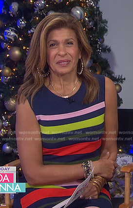 Hoda's multicolor striped dress on Today