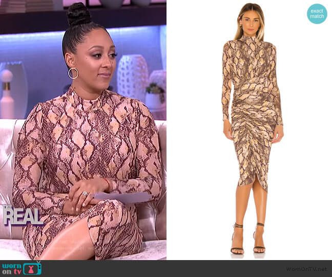 x REVOLVE Minka Midi Dress by House of Harlow 1960 worn by Tamera Mowry  on The Real
