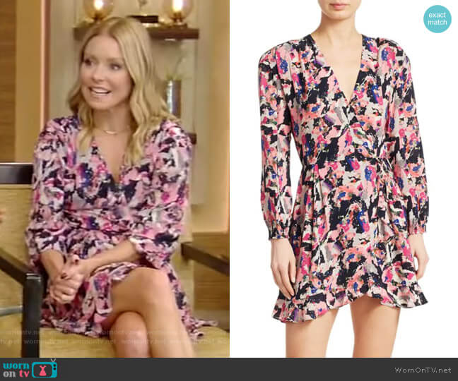 Bloomy Printed Wrap Dress by Iro worn by Kelly Ripa  on Live with Kelly & Ryan