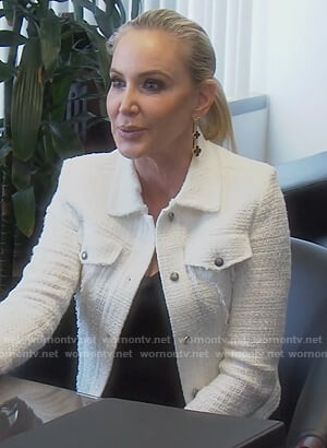 Shannon's white tweed jacket on The Real Housewives of Orange County