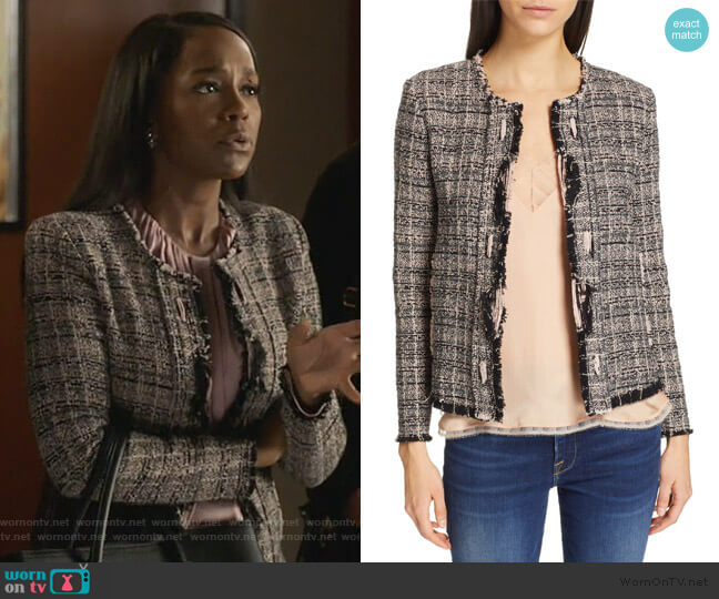 Tweed Jacket by IRO worn by Michaela Pratt (Aja Naomi King) on HTGAWM