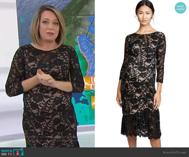 Wornontv Dylan S Black Lace Maternity Dress On Today