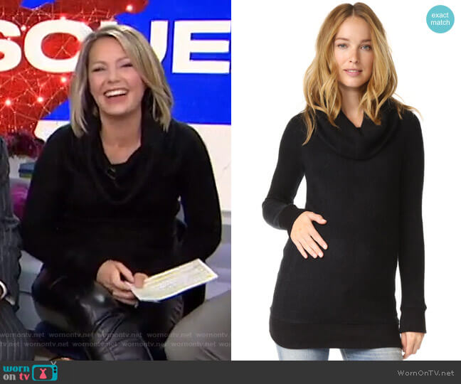 Cowl Neck Maternity Sweater by Ingrid & Isabel worn by Dylan Dreyer  on Today