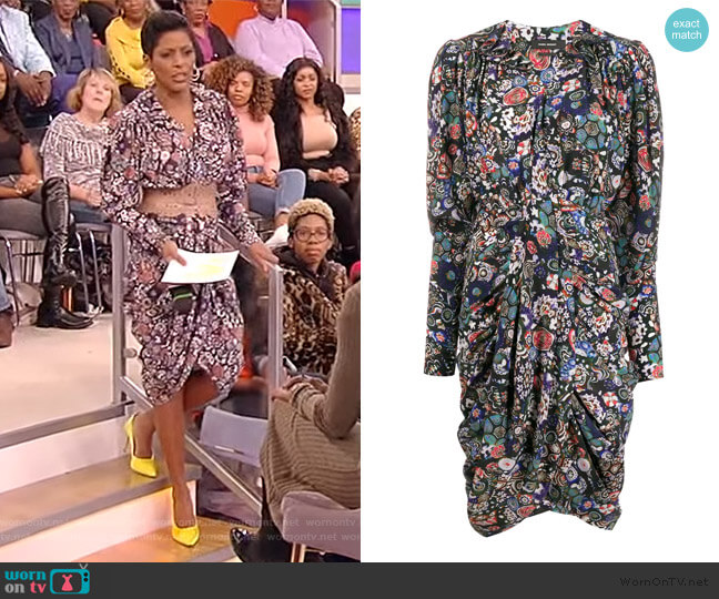 Floral Print Shirt Dress by Isabel Marant worn by Tamron Hall  on Tamron Hall Show