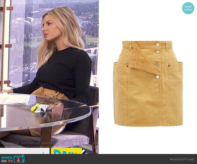 Nimes Denim Mini Skirt by Jacquemus worn by Morgan Stewart  on E! News