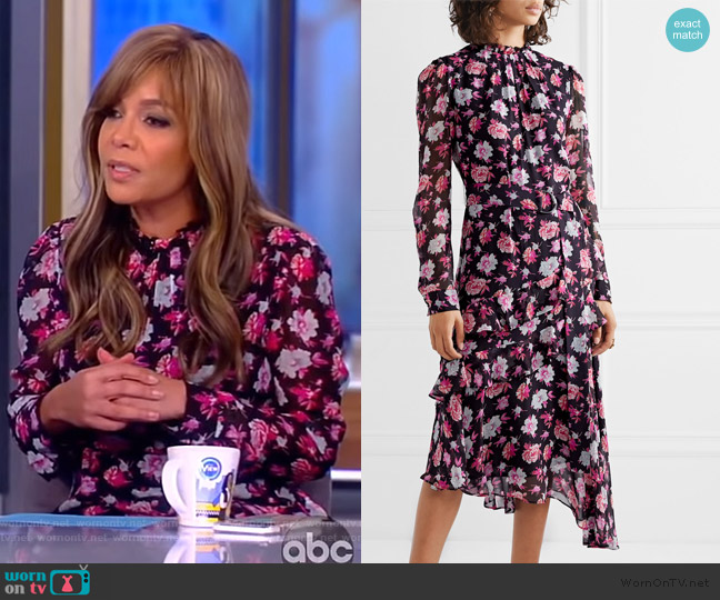 Printed Asymmetrical Dress by Jason Wu worn by Sunny Hostin  on The View
