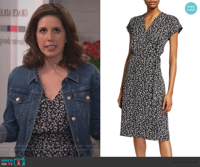 Bethwyn Ditsy Floral Wrap Dress by Joie worn by Vanessa Bayer on Will and Grace