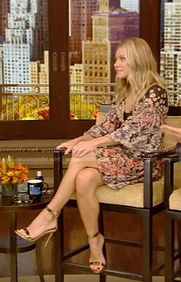 Kelly's floral mini dress on Live with Kelly and Ryan