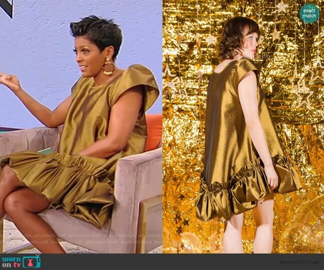 Metallic Puff Dress by Kelsey Randall worn by Tamron Hall  on Tamron Hall Show