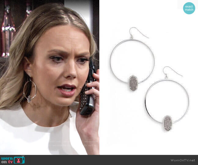 Kendra Scott Elora Hoop Earrings  worn by Abby Newman (Melissa Ordway) on The Young & the Restless
