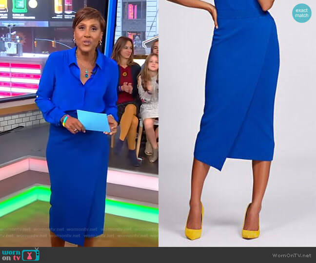 Knit Pencil Skirt - Gabrielle Union Collection by New York & Company worn by Robin Roberts  on Good Morning America