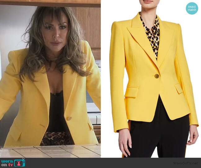 Dylan One-Button Tailored Jacket by Kobi Halperin worn by Kelly Dodd  on The Real Housewives of Orange County