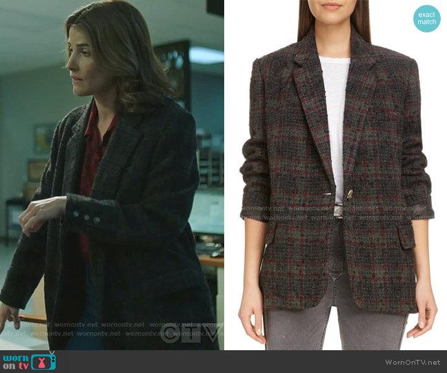 Korix Wool Blend Jacket by Isabel Marant Etoile worn by Dex Parios (Cobie Smulders) on Stumptown