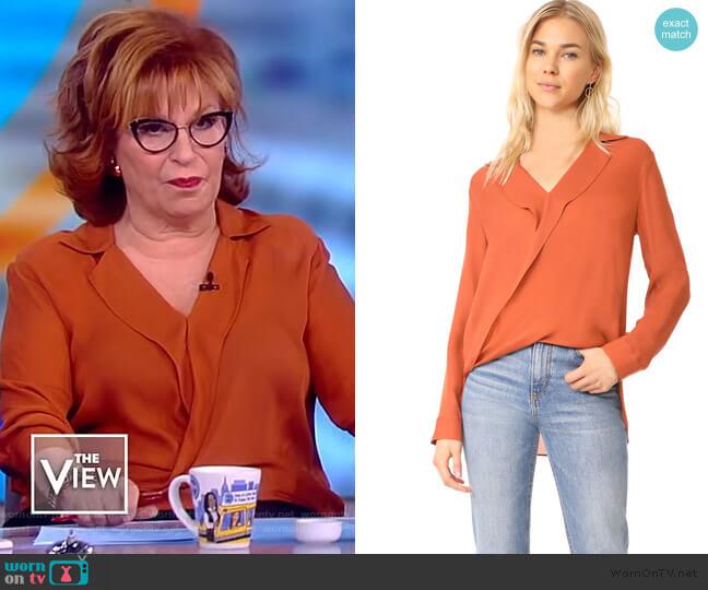 Rita Drape Blouse by L'Agence worn by Joy Behar  on The View