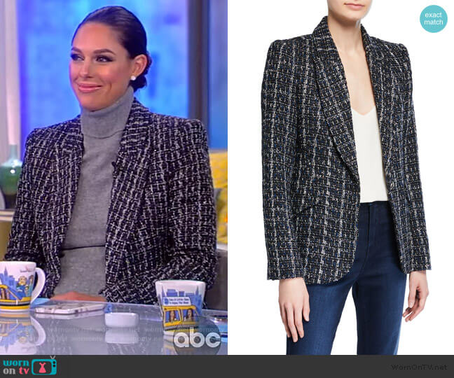 Chamberlain Tweed Blazer by L'Agence worn by Abby Huntsman  on The View