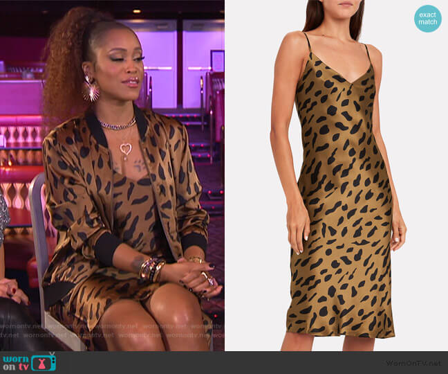 Jodie Cheetah Print Silk Slipdress by L'Agence worn by Eve  on The Talk