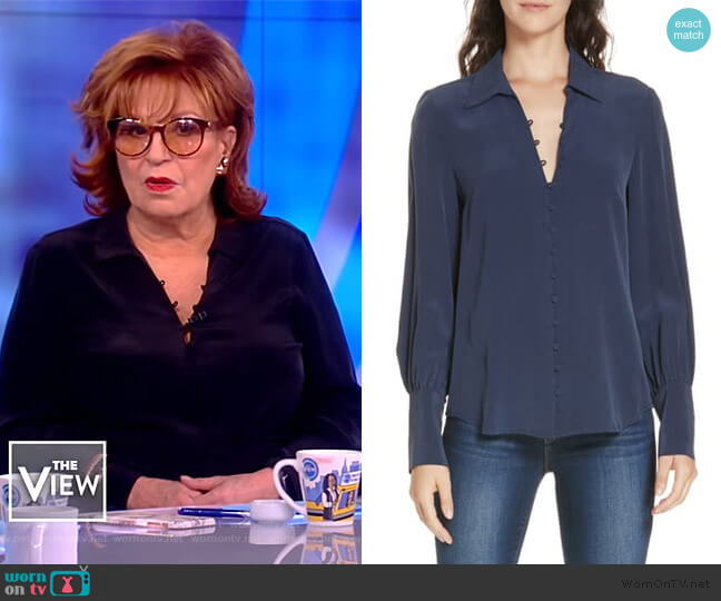 Naomi Silk Blouse by L'Agence worn by Joy Behar  on The View