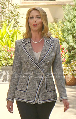 Laura Van Kirk's tweed blazer on Dynasty