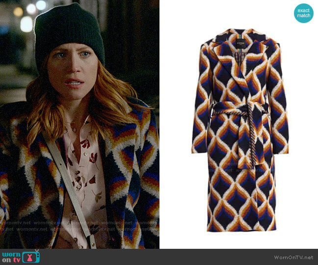 Le Superbe Amanbaugh Wrap Coat worn by Julia Bechley (Brittany Snow) on Almost Family