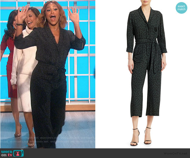 Beatnik Leopard-Print Jumpsuit by Le Superbe worn by Eve  on The Talk