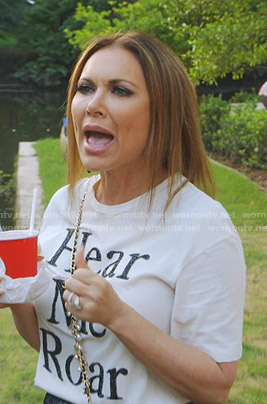 LeeAnne's Hear Me Roar tee on The Real Housewives of Dallas