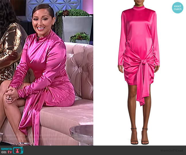 Khaleesi Tie-Front Long-Sleeve Cocktail Dress by Likely worn by Adrienne Houghton  on The Real