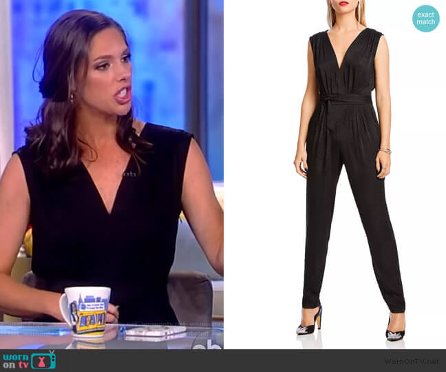 Fiona Tie-Waist Jumpsuit by Lini worn by Abby Huntsman  on The View