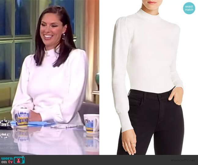 Gillian Puff-Sleeve Top by Lini worn by Abby Huntsman  on The View