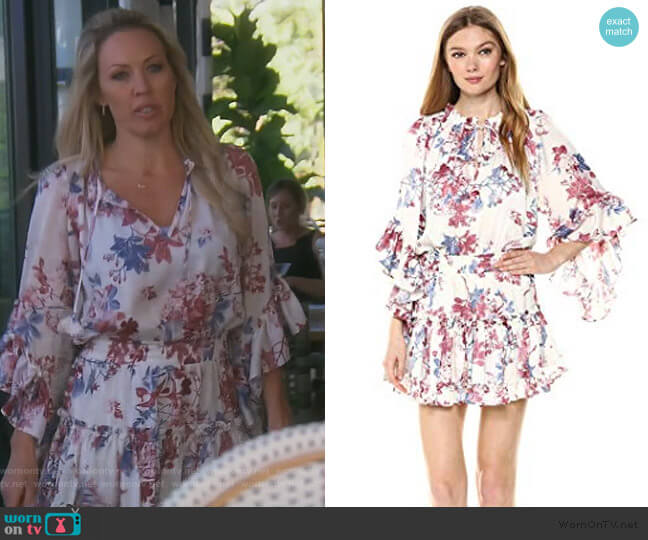 Cecilia Dress by Misa worn by Braunwyn Windham-Burke  on The Real Housewives of Orange County