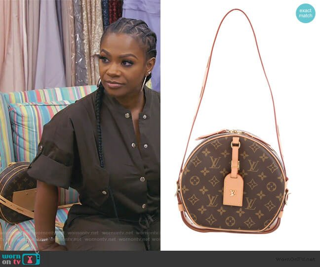 2018 Monogram Boite Cahapeau Souple by Louis Vuitton worn by Kandi Burruss  on The Real Housewives of Atlanta