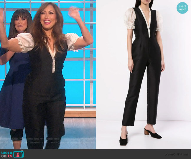 Suzette Jumpsuit by Macgraw worn by Carrie Inaba  on The Talk