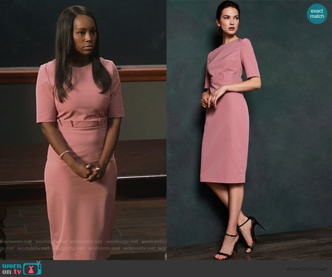 Maggidd Dress by Ted Baker worn by Michaela Pratt (Aja Naomi King) on HTGAWM