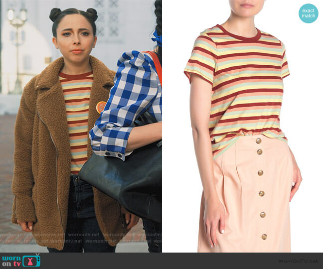 Northside Vintage Broadway Stripe T-Shirt by Madewell worn by Izzy Levine (Esther Povitsky) on Dollface