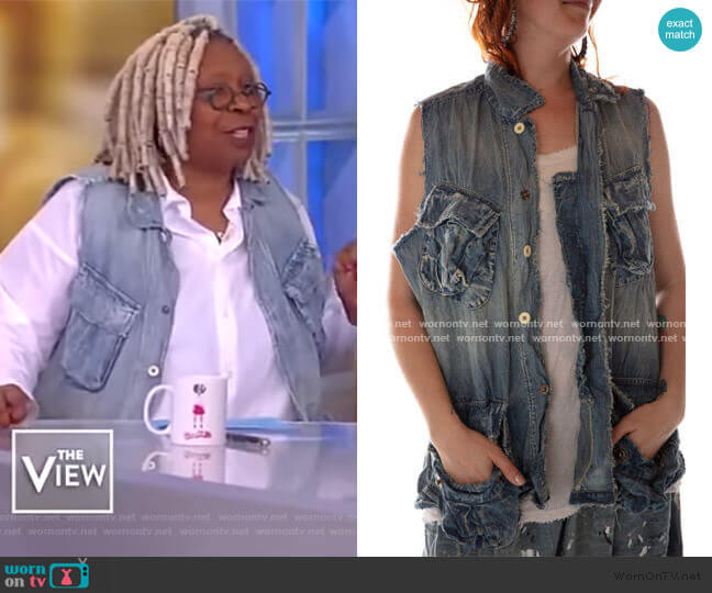 Cotton Utility Vest by Magnolia Pearl worn by Whoopi Goldberg  on The View