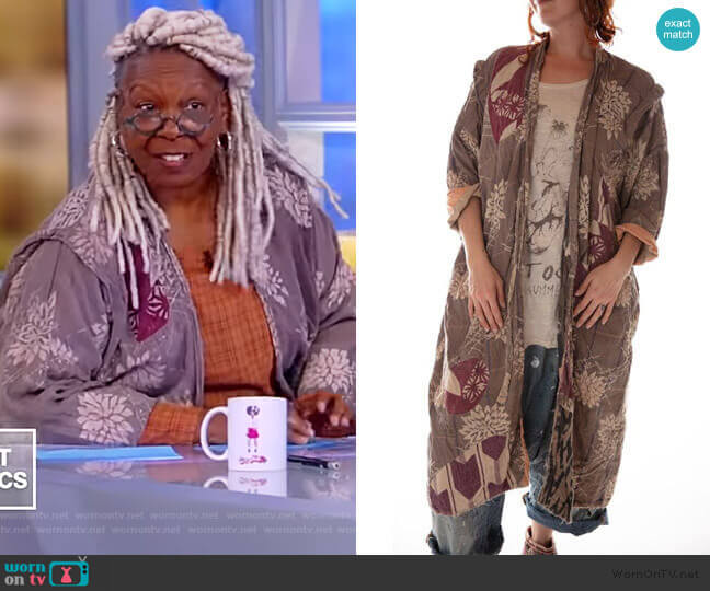 French Cotton Fortune Kimono by Magnolia Pearl worn by Whoopi Goldberg  on The View