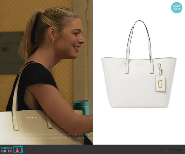 Saffiano Tote Bag by Marc Jacobs worn by Kate Miner