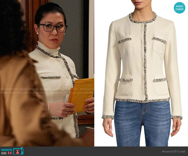 Weekend Max Mara Edo Tweed Jacket worn by Sherri Kansky (Ruthie Ann Miles) on All Rise