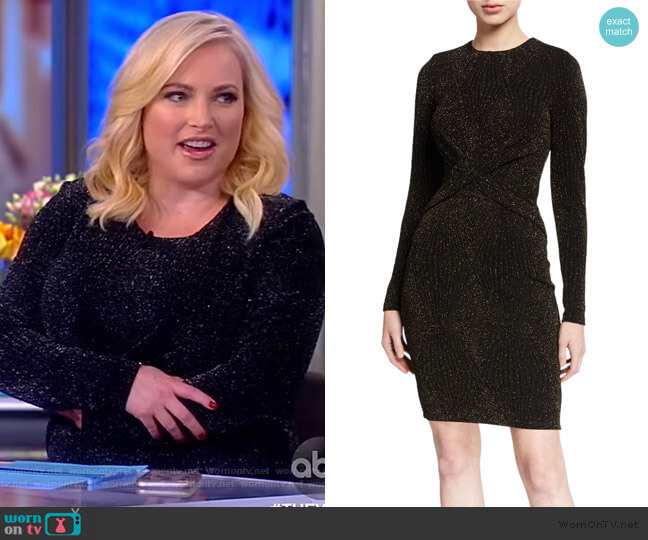 Lurex Twist Front Bodycon Dress by MICHAEL Michael Kors worn by Meghan McCain  on The View