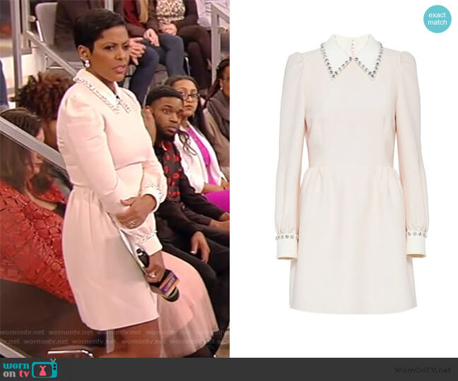 Embellished Collar Dress by Miu Miu worn by Tamron Hall  on Tamron Hall Show